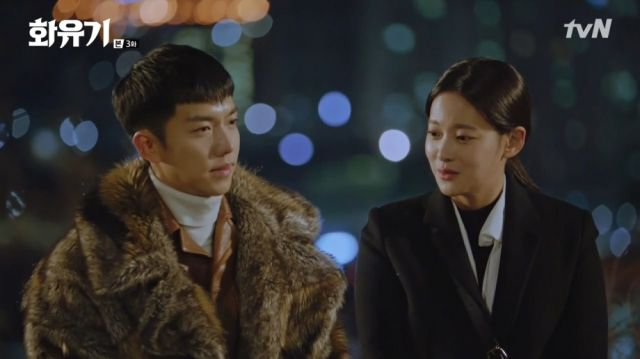 Oh-gong and Seon-mi awkwardly bonding