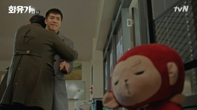 Oh-gong angry at his plushie for the false alarm