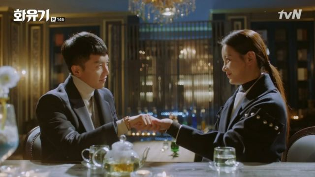 Oh-gong and Seon-mi exchanging marriage promises