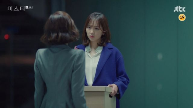 Ji-won being given a harsh lesson by Hye-ran