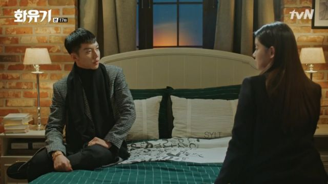 Oh-gong talking with Seon-mi