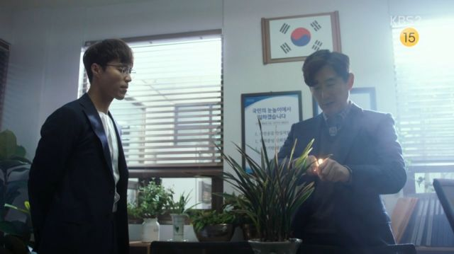 Seong-woo and In-ho talking about killing