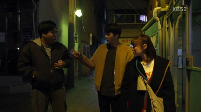 Ko Si-hwan, Wan-seung and Seol-ok investigating