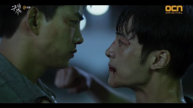 Sang-hwan and Dong-cheol reconciling