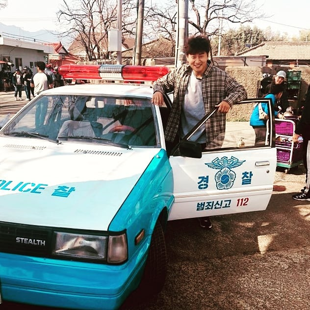 Oh and his retro police car